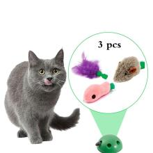 3 шт. игрушка для кошек Pop Play игрушечный мяч для питомца POP N PLAY устройство для когтеточки с 3 сменными аксессуарами мышь рыба перо