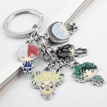 Mijn Hero Academia Izuku Midoriya Katsuki Bakugou Alle Misschien Shoto Todoroki Metal Hangers Sleutelhanger Sleutelhanger Ornament Gift