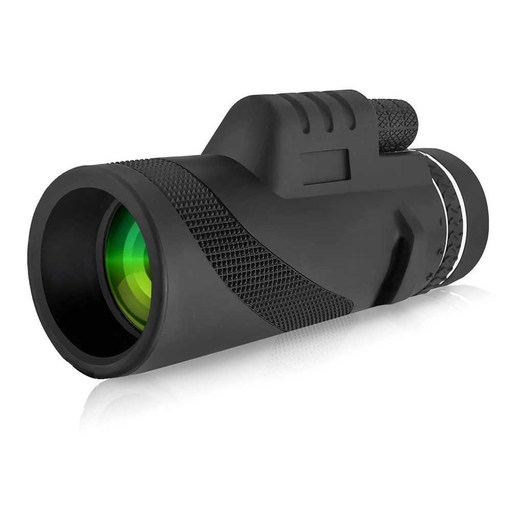 40x60 عالية الطاقة HD أحادي تلسكوب مقاوم للماء مكافحة تعفير نطاقات لمشاهدة الطيور الصيد التخييم السفر
