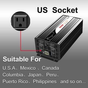 Image 2 - Onduleur pour installation solaire à onde sinusoïdale pure 5000W, 12 24 48V DC vers 110 220V AC, avec télécommande et affichage numérique
