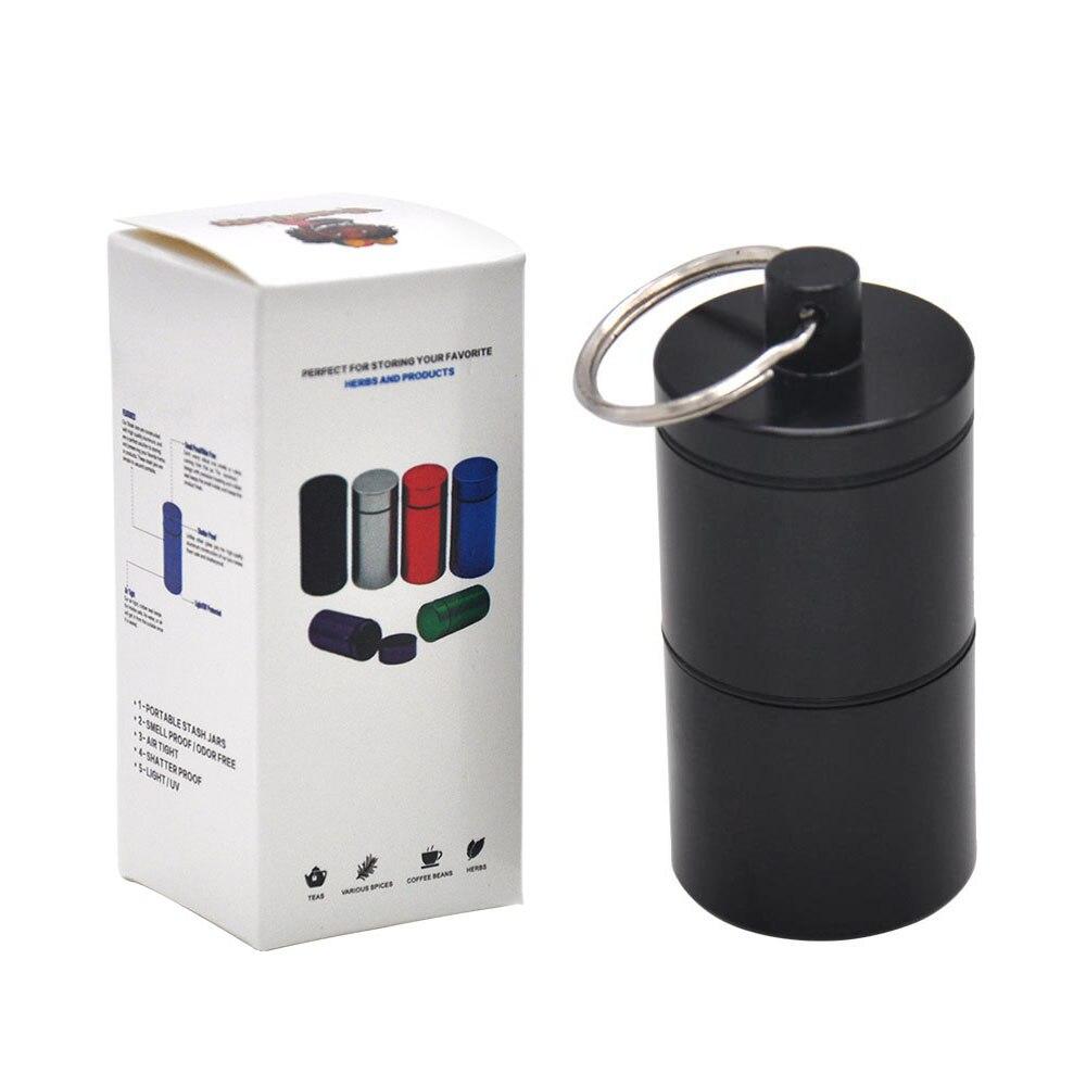 """HORNET Stash Jar-герметичный, устойчивый к запаху алюминиевый контейнер для специй с 2 слоями, чехол для табака """"вы можете собрать его самостоятельно"""" - Цвет: YH033-HP-Hei"""