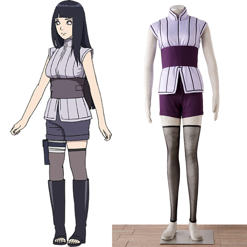 Customized Naruto The Last Cosplay Costume Movie The Last Hinata Hyuga Cosplay Wig For Women Girls Halloween Costume Any Size