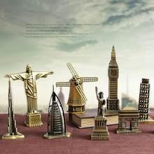 Ermakova metal mundialmente famoso edifício arquitetura modelo estátua marco lembrança turística decoração de escritório em casa