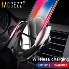 !ACCEZZ 10W Qi Wireless Car Charger For iPhone X XS XR Max Samsung S9 Huawei Mate 20 Pro Fast Charging Phone Holder