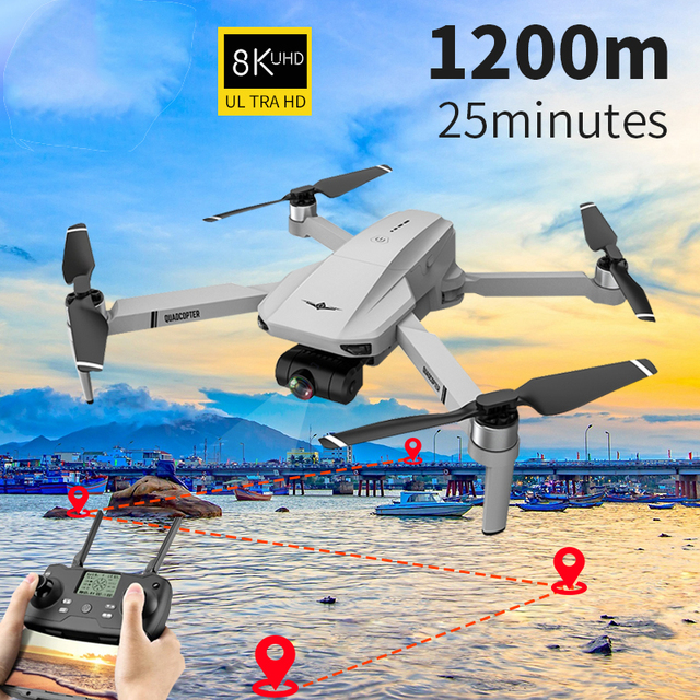 2021 New KF102 Drone 8k HD Camera 2-Axis Gimbal Professional Anti-Shake Aerial Photography Brushless Foldable Quadcopter 1.2km 1
