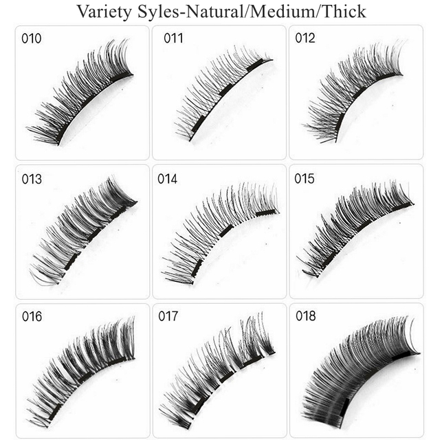 Magnetic Eyelashes with 3 Magnets,No Glue 3D Mink Natural Magnetic Eyelash,pestañas magneticas,cils magnetique,cilios magnetico 4