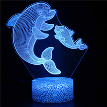 Nighdn 3d Lamp Night Light Creative Home Decor Lamp Fish Table Lamp Bedside Light Holiday Gifts for Brother Birthday Present