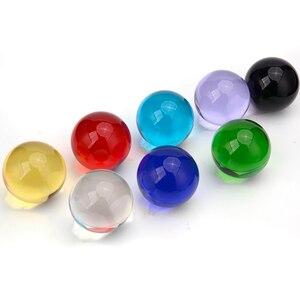 Image 5 - Прозрачная люстра Globe K9 с линзами, стеклянный шар с хрустальными шариками, подставка для сферических шариков, украшение для фотографий, домашний декоративный шар