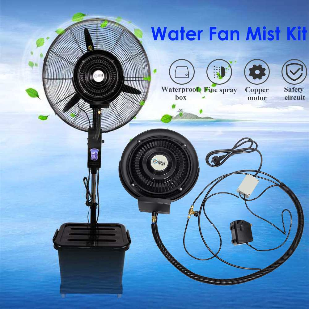 Portable Air Conditioning Water Mist Fan Mist Parts Centrifugal Atomizing Main Machine Outdoor Air Cooler Fan System AC220-240V