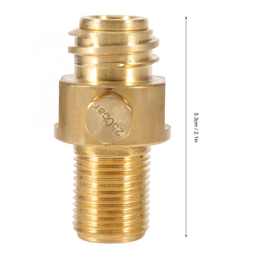 M18x1.5 TR21x4 Сода Латунь Резьба CO2 разъем клапан-адаптер бак аксессуары для заправки Латунь Соединительный шов медный адаптер