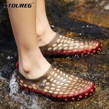 أحذية ماء الشاطئ للرجال النساء صنادل شاطئ الجوف خارج النعال تنفس عادية الشقق أحذية المنبع أكوا