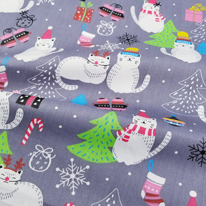 Christmas Decoration 100% Cotton Twill Fabric Cotton Patchwork Cloth ,DIY Sewing Quilting Fat Quarters Material For Baby&Child