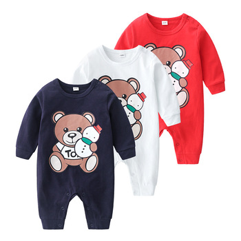 newborn baby boy girl Romper Long sleeve cotton cute cartoon new born clothes