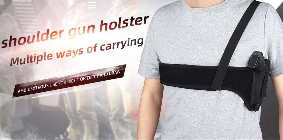 Coldre de arma tática de ombro neoprene