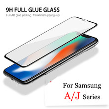 Tempered Glass for Samsung Galaxy J8 J4 J6 A6 A7 A9 A8 J2 Pro PLUS 2018 Screen Protector Film Protective Safety A 6 7 9 J 2 4 6(China)