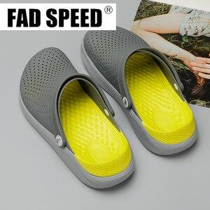 Image 2 - 2020 Men Sandals Crocks LiteRide Hole Shoes Crok Rubber Clogs For Unisex EVA Garden Shoes Black Crocse Adulto Cholas Hombre