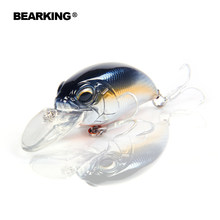 Bearking professional hot fishing tackle Retail 2017 qulity fishing lure 65mm,14g crank dive 2m for pike and bass(China)