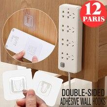 Multi-purpose dupla face adesivo ganchos de parede cabide transparente ventosa otário suporte de armazenamento de parede para cozinha do banheiro