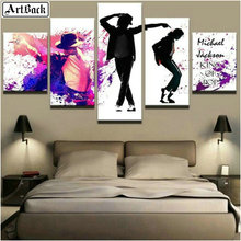 Five spell diamond painting Michael Jackson watercolor picture 5d full square drill sticker mosaic crafts home decoration