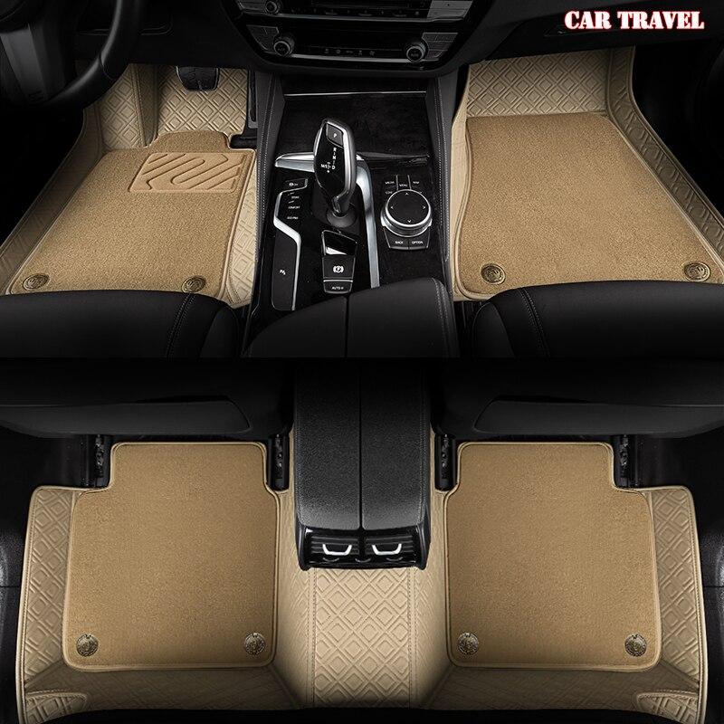 CAR TRAVEL Custom car floor mats for Cadillac Escalade SRX CTS ATS CT6 XT5 CT6 ATSL XTS SLS car accessories foot mats styling