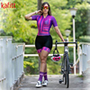 Kafitt pro equipe triathlon conjunto camisa de ciclismo feminino uma peça macacão manga curta macaquinho conjunto feminino gel almofada 12