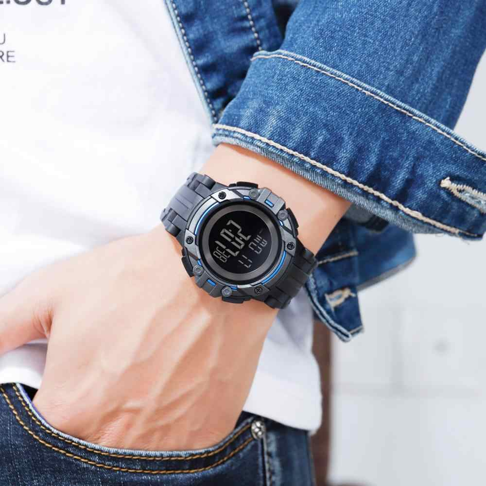 2019 SKMEI hommes montre numérique 5Bar étanche homme montre-bracelet lumineux chronographe horloge Sport montres Relógio de homem 1545