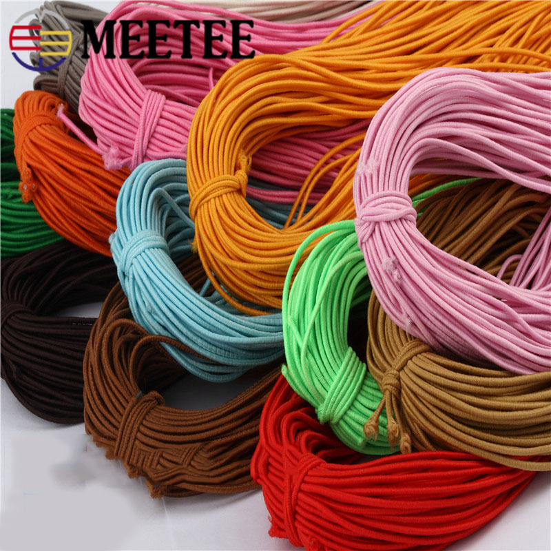 3mm Round Elastic Stretch Cord Waist Band for Sewing Band Blue Crafts 20-40m