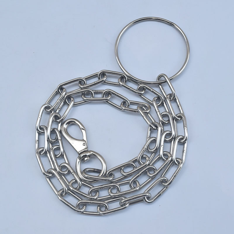 Pet Chain Suppository Dog Chain Fixed Bolt Lanyard Large Dog Dog Hand Holding Rope Iron Chain Anti-Bite Lengthen Rough