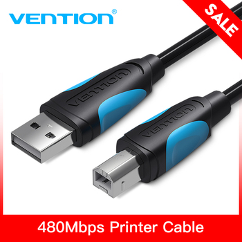 Vention USB Printer Cable USB Type B Male to A Male USB 2.0 Cable for Canon Epson HP ZJiang Label Printer DAC USB Printer cable