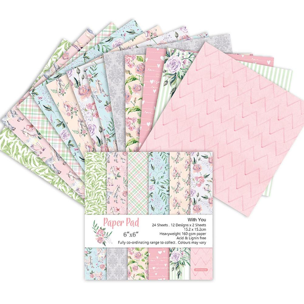 Background-Pad Paper-Pack Craft-Paper Flower Scrapbooking Blossoms Handmade 24-Sheets title=
