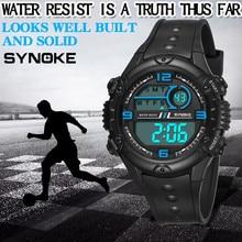 SYNOKE Luxury Men Analog Digital Watch Multi-Function 50M Waterproof