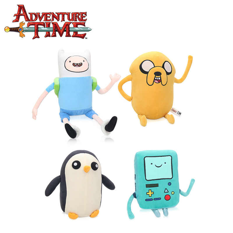 25-43cm Adventure Time Plush Toy Jake Penguin Gunter Finn Beemo BMO Soft Stuffed Animal Dolls Party Supplies Brinqudoes bebe
