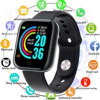 Reloj deportivo reloj inteligente para hombres y mujeres con presión arterial reloj inteligente impermeable Whatsapp recordatorio de actividad para Android IOS