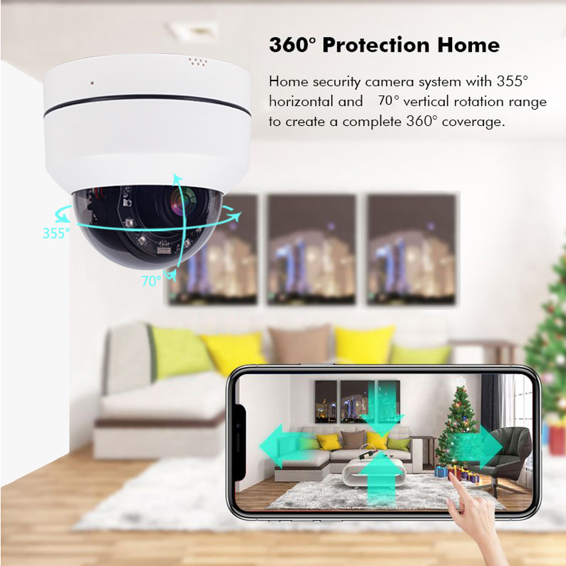 Security IP Camera 1080P Wireless Surveillance Outdoor WiFi Camera Waterproof CCTV Network Monitor Record Two Way Audio Pan Tilt in Surveillance Cameras from Security Protection