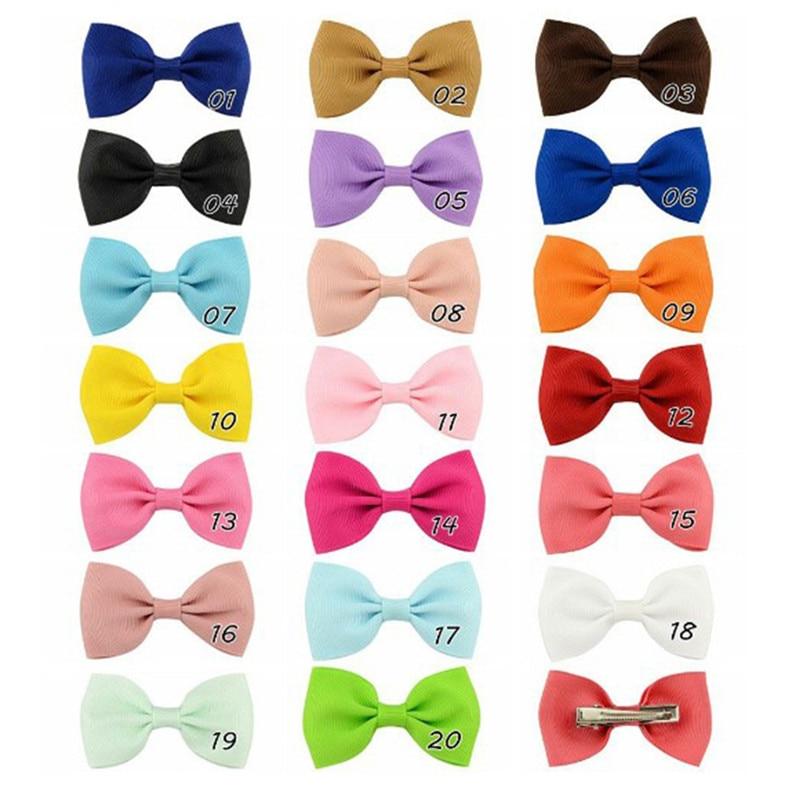 Карамельный цвет мини сладкий твердый горошек заколки для волос Дети корейский стиль заколка для волос с бантом шпильки для женщин девочек
