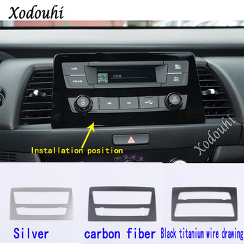 For Honda Fit Jazz 2020 2021 Car Cover Garnish Navigation Map GPS Trim Dashboard Meter Instrument Panel Gauge Frame Stick 1pcs image