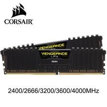 CORSAIR Vengeanceหน่วยความจำRAM LPX 4GB 8GB 16GB 32GB DDR4 PC4 2400Mhz 2666Mhz 3000mhz 3200MhzโมดูลPCเดสก์ท็อปหน่วยความจำRAM DIMM