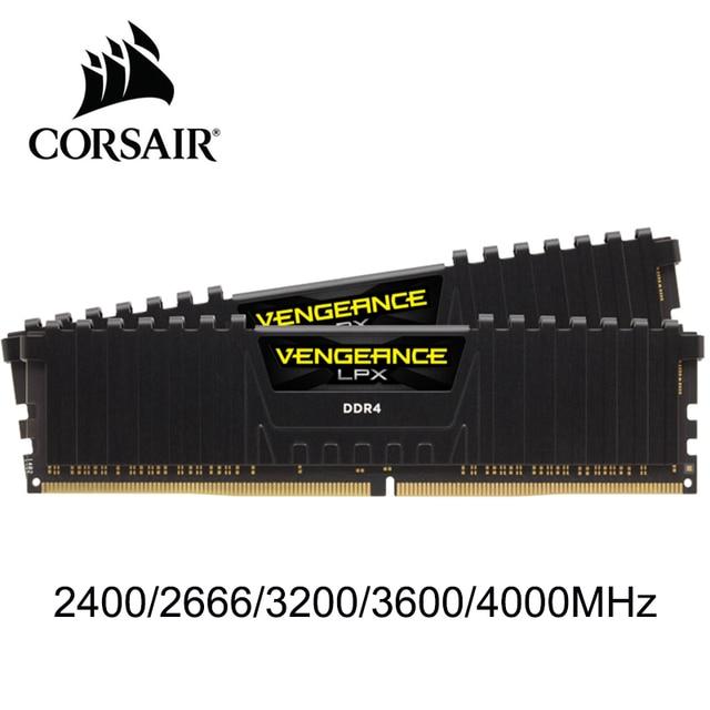 CORSAIR Vengeance RAM bellek LPX 4GB 8GB 16GB 32GB DDR4 PC4 2400Mhz 2666Mhz 3000Mhz 3200Mhz modülü bilgisayar masaüstü RAM bellek DIMM