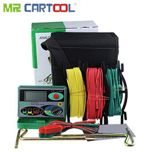 Mr Cartool DY4100 Digital Resistance Tester Earth Ground Meter Multimeter with Higher Accuracy Power Systems Inspection Tool
