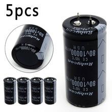 5pcs/Set 10000uF 80V 30x60mm Capacitor Electrolytic Audio 10000-UF MFD 10000mfd
