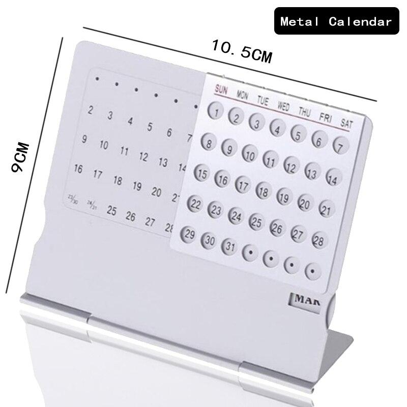 2020 Новый ультратонкий металлический мини настольный календарь, 1 шт., креативный, Супер Вечный, уникальный, 100 лет, календари на английском языке|Календарь|   | АлиЭкспресс