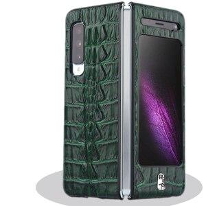Image 4 - Luksusowy skórzany futerał na telefon odporny na wstrząsy ochronna tylna pokrywa Shell dla Samsung W20/Fold/F9000 akcesoria do telefonów komórkowych