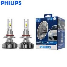 فيليبس LED 9005 9006 HB3 HB4 X treme Ultinon LED سيارة العلوي 6000K الأبيض السيارات الأصلي مصابيح + 200% أكثر إشراقا 11005XUX2 ، زوج