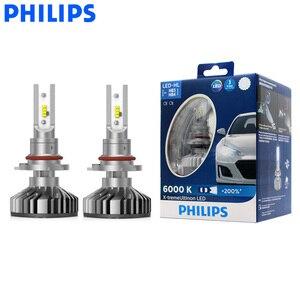 Image 1 - Philips LED 9005 9006 HB3 HB4 X treme Ultinon LED Del Faro Dellautomobile 6000K Bianco Auto Originale Lampade + il 200% Più Luminoso 11005XUX2, coppia