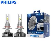 Philips LED 9005 9006 HB3 HB4 x treme Ultinon LED araba far 6000K beyaz oto orijinal lambalar + 200% parlak 11005XUX2, çift