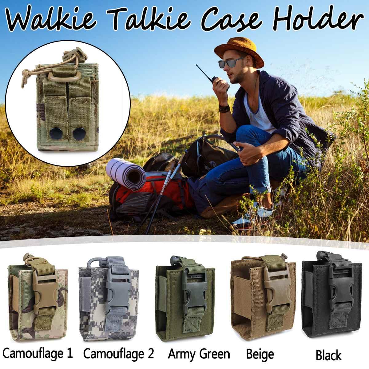 Waterproof Walkie Talkie Pouch Interphone Storage Bag Waist Bag Outdoor Pouch Case Holder For Walkie Talkie