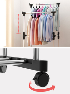 Image 5 - Fast Dispatch Sokoltec hanger home convenient drying rack multifunctional drying rack storage bag plastic storage rack