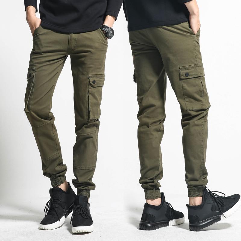 Japanese-style Casual Pants Slim Fit Elasticity Korean-style Teenager Thin Beam Leg Capri Multi-pockets Bib Overall Pencil Pants