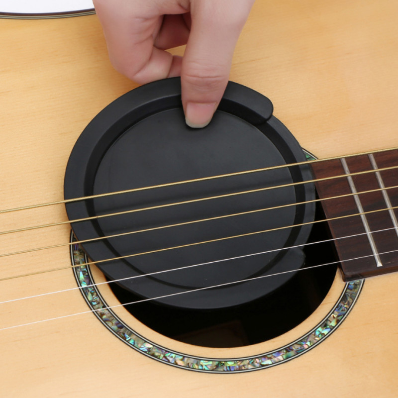 Silicone Classic Guitar Buster Sound Hole Cover Guitar Noise Reduction Guitar Reduce Noise Accessories
