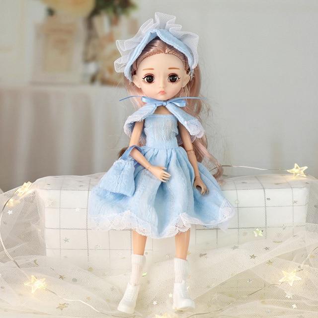 Adollya 1/6 BJD Movable Joints Mini Dolls For Girls BJD Doll Full Set Princess Female Body BJD Accessories Kawaii Toys For Girls 5